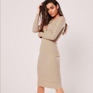 Dresses & Skirts - Sand rib midi dress